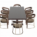 3d Schubert table and chairs by Longhi model buy - render