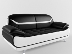Bentley Sofa (noir et blanc moderne)