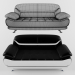 3d Bentley Sofa (Modern Black and White) model buy - render