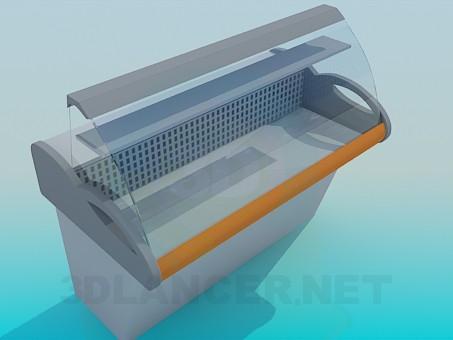 descarga gratuita de 3D modelado modelo Nevera vitrina