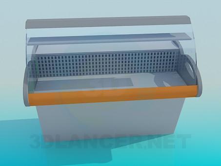3d model Showcase fridge - preview