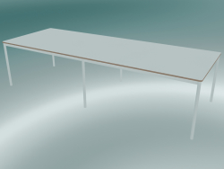 Rectangular table Base 300x110 cm (White, Plywood, White)