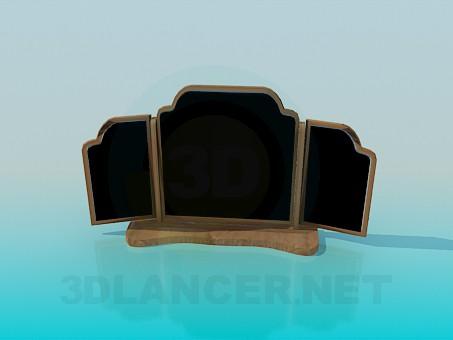 3d model Espejo de tres hojas - vista previa