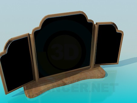 3d model Three-leaved mirror - preview