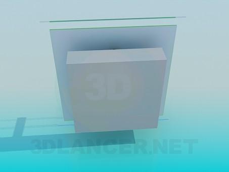 3d модель Квадратная Бра – превью
