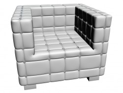 Armchair Shining Cube White