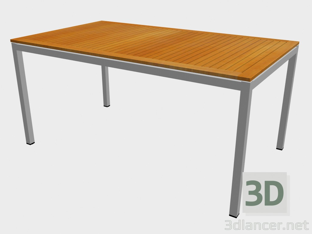 3d modeling Dining table Teak Top Dining Table 1270 model free download
