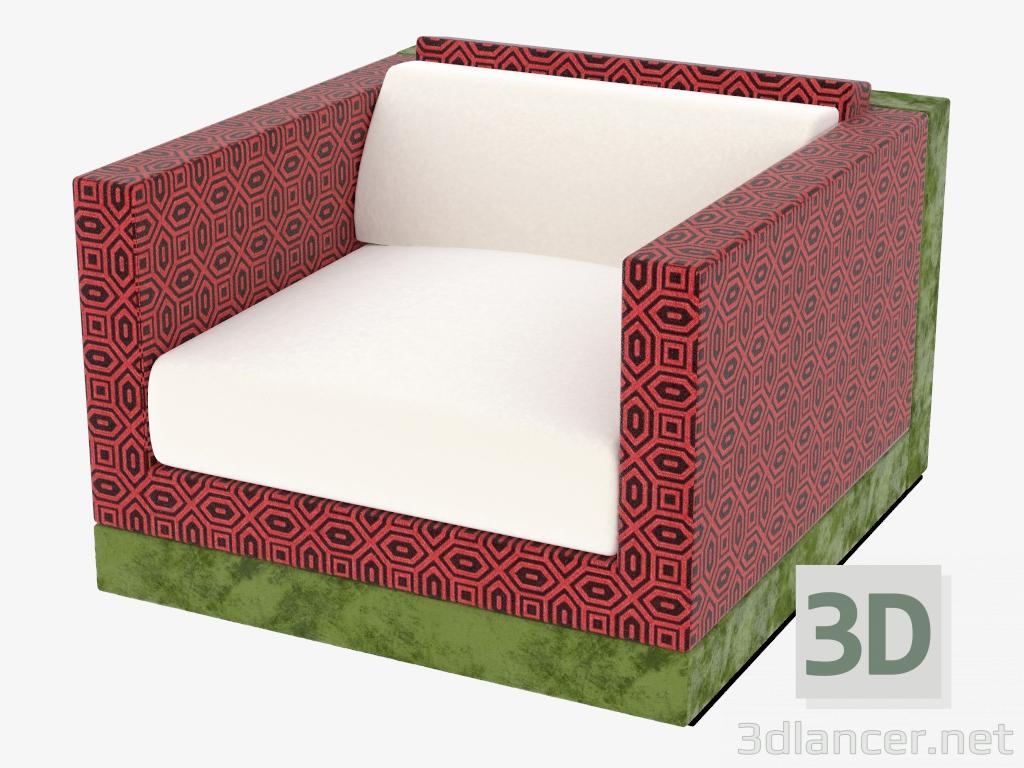 3 डी मॉडल असबाबवाला कुर्सी - पूर्वावलोकन