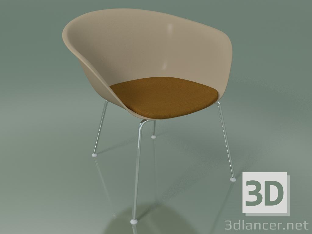 modèle 3D Chaise longue 4222 (4 pieds, avec coussin d'assise, PP0004) - preview