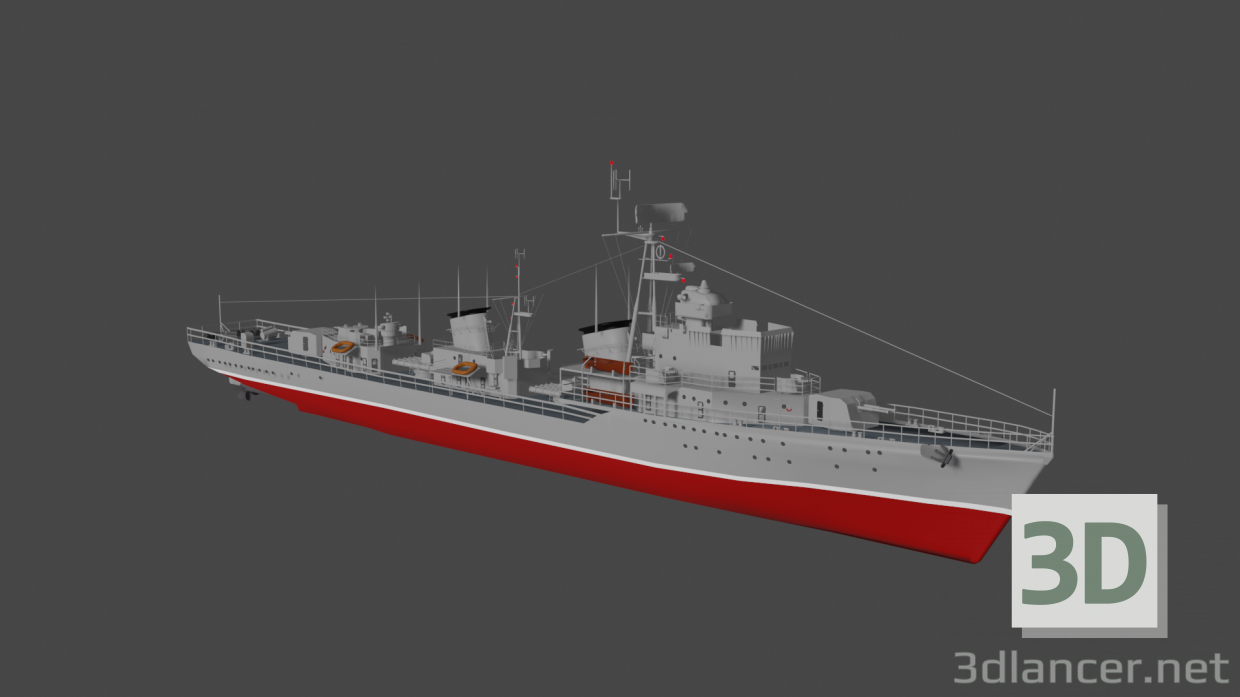 3d Destroyer model buy - render