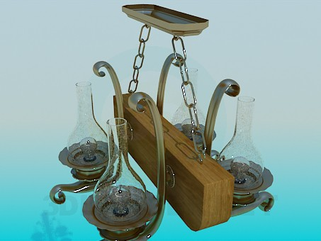 3d model Chandelier antique - preview