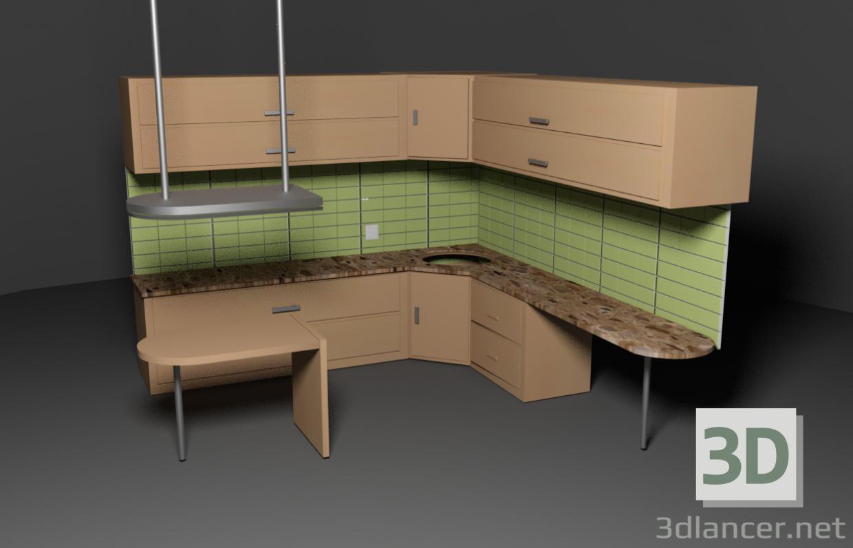 3d Kitchen model buy - render