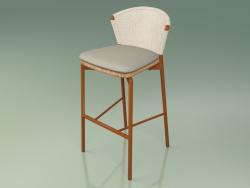 Bar stool 050 (Sand, Metal Rust, Teak)