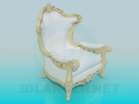 3d модель Кресло резное – превью