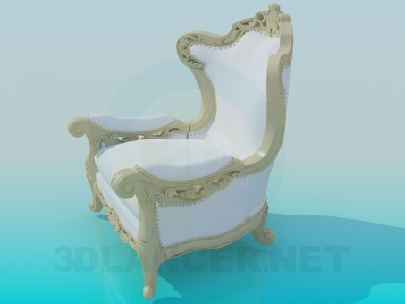 3d model Carved Armchair - preview