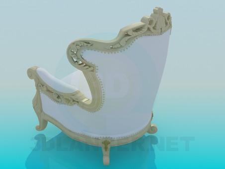 modelo 3D Sillón tallado - escuchar