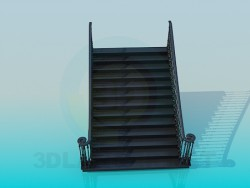 Direct wide staircase
