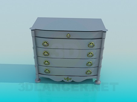 3d modeling Cupboard with drawers model free download