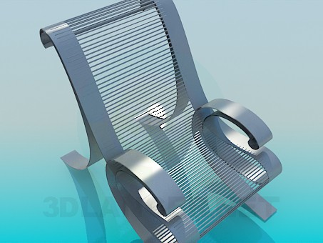 3d model Silla de metal - vista previa
