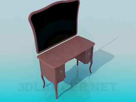 modelo 3D Espejo de piso - escuchar
