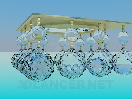 3d modeling Mirror chandelier with glass balls model free download
