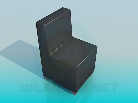 3d моделирование Кресло без подлокотников модель скачать бесплатно
