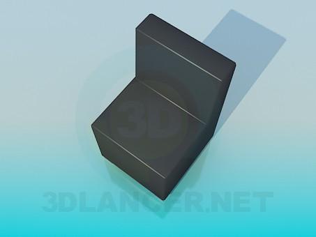 3d модель Крісло без підлокітників – превью