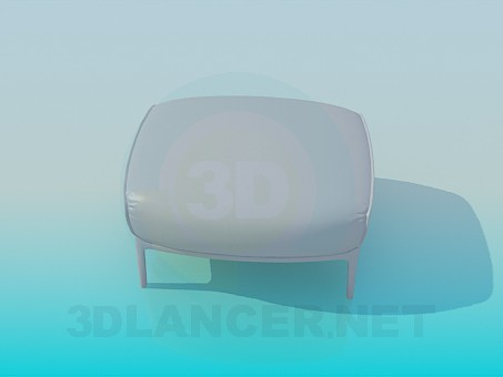 3d modeling Ottoman on legs model free download