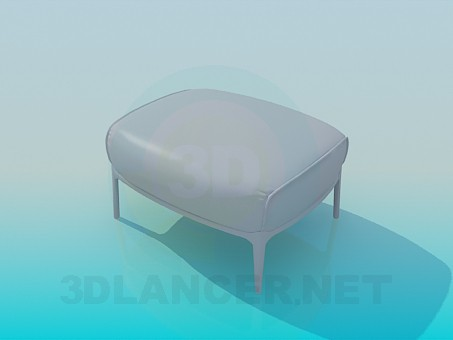3d model Ottoman on legs - preview