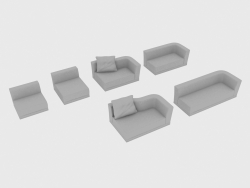 Elements of a sofa modular WELLES