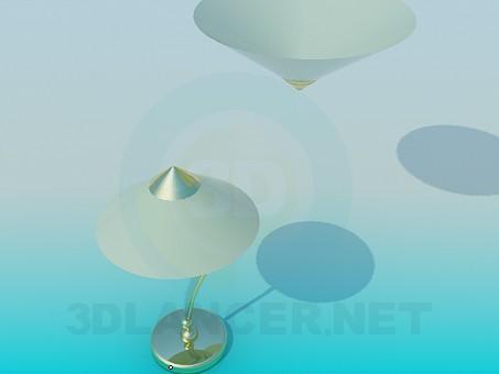 3d модель Настольная лампа и и светильник в наборе – превью