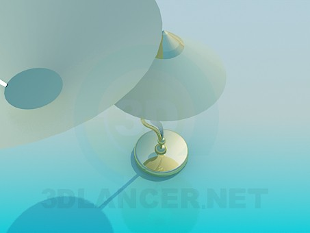 modelo 3D Una lámpara de escritorio y un conjunto de lámpara - escuchar