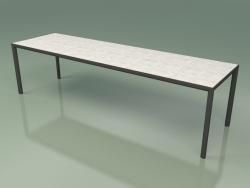 Table à manger 005 (Metal Smoke, Gres Clay)