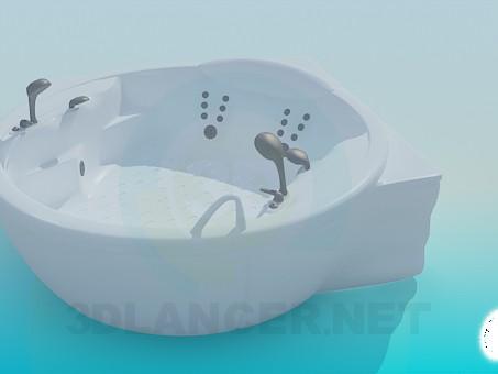 3d model Round corner bath - preview