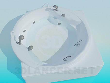 3d модель Кругла кутова ванна – превью