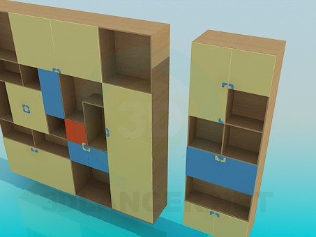3D-Modellierung Schrank für Bücher Modell kostenlos herunterladen