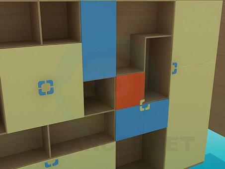 3d модель Шкаф для книг – превью