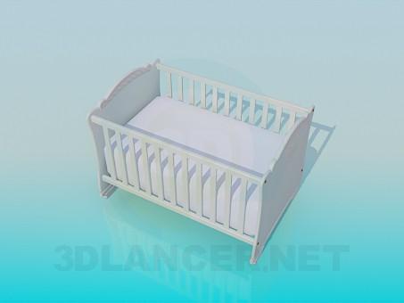 modelo 3D Cuna de bebé - escuchar
