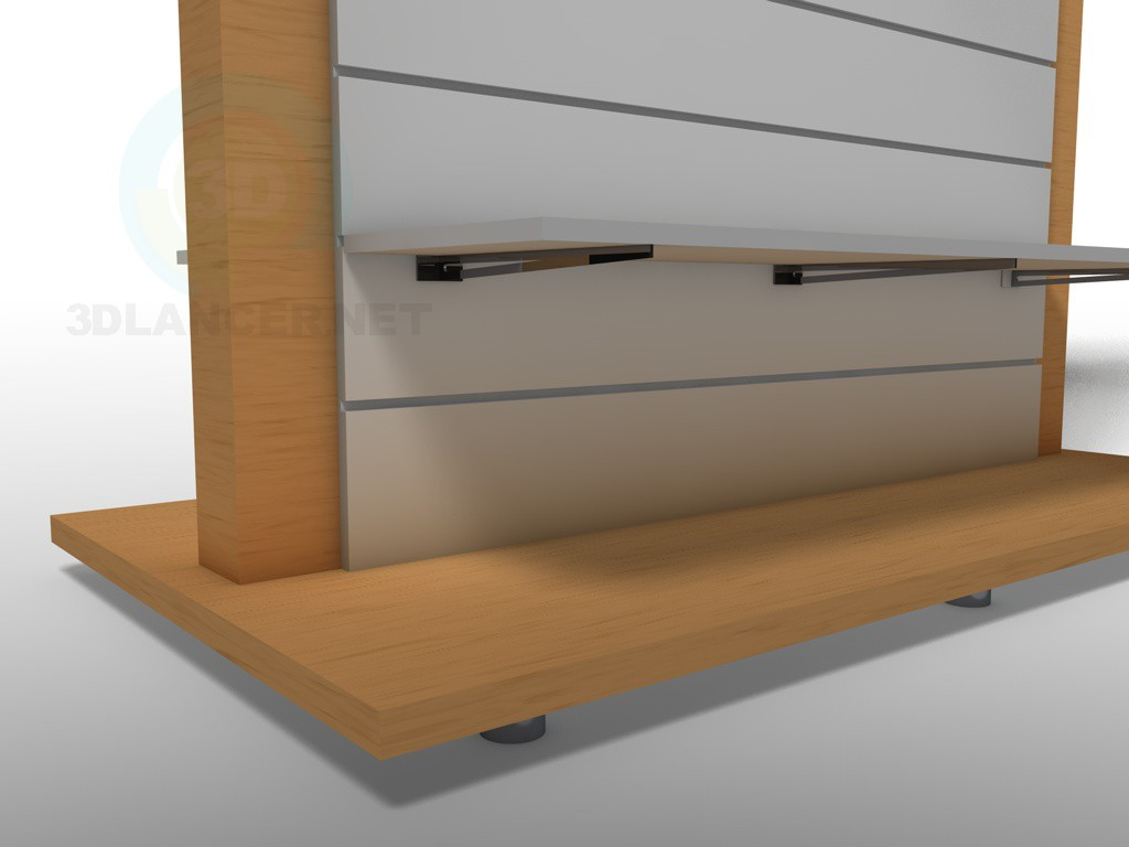 3d model Central stand for clothes - preview