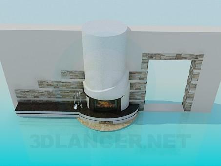 modèle 3D cheminée - preview