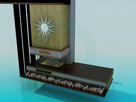 modelo 3D Lugar de la estufa - escuchar