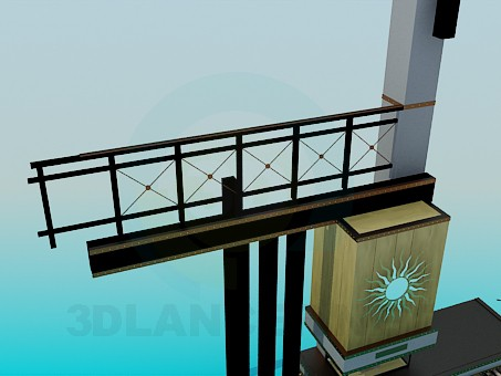 3d модель Место для камина – превью