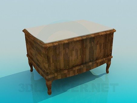 3d model Cupboard-ottoman - preview