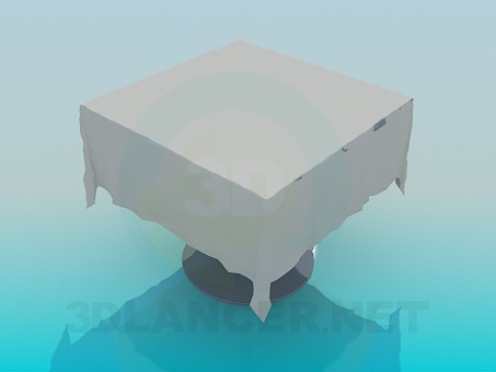 3d model Table with a tablecloth - preview