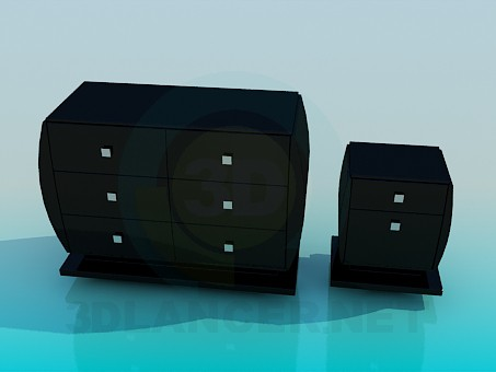 3d modeling Chest of drawers and nightstand in the set model free download