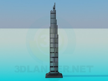 3d modeling Stand in the form of the skyscraper model free download