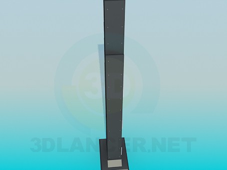 3d модель Підставка у формі хмарочоса – превью