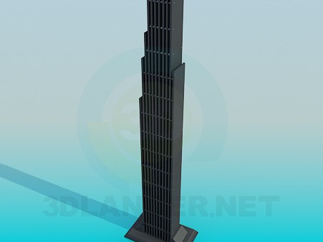 3d model Stand in the form of the skyscraper - preview