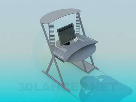 3d modeling computer table model free download