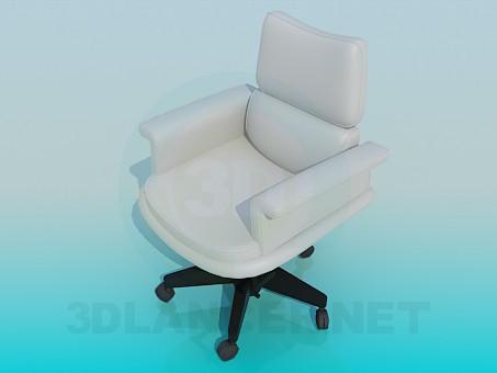 3d модель Кресло на колесиках – превью